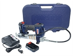 Lincoln Lubrication 1884, 20-Volt Lithium Ion PowerLuber Cordless Grease Gun Kit (2 Batteries)
