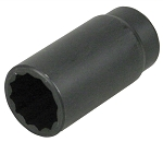Lisle 39510, 1/2in Drive 30MM 12 Point Axle Nut Socket
