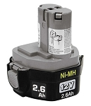 Makita 193157-5, 12 Volt 2.6 Amp Hour NIMH Pod Style Battery