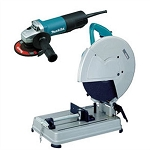 Makita 2414NBX2, 14in Portable Electric Cut-Off Variable Speed Saw with Free 4-1/2in Electric Angle Grinder