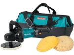 Makita 9237CX3, 7in Variable Speed Electric Polisher / Sander Kit