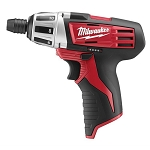 Milwaukee 2401-20, M12 1/4in Cordless Hex Screwdriver - Bare Tool
