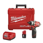 Milwaukee 2402-22, M12 Fuel 1/4in Hex 2-Speed Cordless Screwdriver Kit