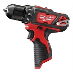 Milwaukee 2407-20, M12 3/8in Cordless Drill / Driver (Bare Tool)