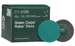 3M 01396, 2in Green Corps Roloc Discs 50 Grit