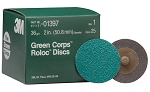 3M 01397, 2in Green Corps Roloc Discs 36 Grit