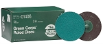 3M 01406, 3in Green Corps Roloc Discs - 50 Grit
