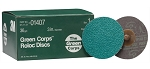 3M 01407, 3in Green Corps Roloc Discs - 36 Grit