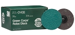 3M 01408, 3in Green Corps Roloc Discs - 24 Grit