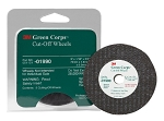 3M 01990, 3in x 1/16in x 3/8in 3M Green Corps Cut-off Wheels - 5 pack