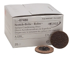 3M 07480, 2in Coarse Scotch Brite Roloc Surface Conditioning Discs