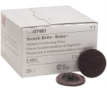 3M 07481, 2in Medium Scotch Brite Roloc Surface Conditioning Discs