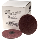 3M 07483, 4in Medium Scotch Brite Roloc Surface Conditioning Discs