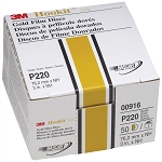 3M 00916, 3in Hookit Gold Disc 50 Discs Per Box