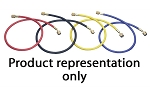 Mastercool 45396, 96in A/C Hose Set with Automatic Shut Off Valves - Red / Blue / Yellow