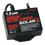 SOLAR 1002, 1.5 Amp 12 Volt Automatic On Board Battery Charger