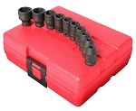 Sunex 1810, 10 Piece 1/4in Drive Standard SAE Impact Socket Set