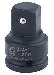 Sunex 4300, 3/4in Female 1in Male Impact Socket Adapter