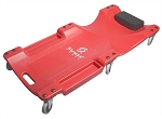 Sunex 8511, 40in 6 Wheel Plastic Red Creeper