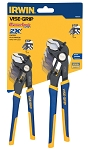 Vise Grip (Irwin) 1802531, 2 Piece GrooveLock 6in and 8in V-Jaw Pliers Set