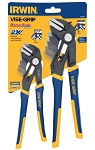Vise Grip (Irwin) 1802532, 2 Piece GrooveLock 8in and 10in Straight Jaw Pliers Set