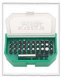 Vim Products VIS110, 31 Piece Bit Set - Torx - Hex - Phillips - Flat and Posi-Drive Bits and Magnetic Driver