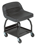 Whiteside Mfg HRS, High Rise Large Padded Creeper Seat - Black
