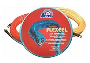 Acme Automotive A750HH100, Flexeel Air Hose 1/2in x 100ft with 1/2in Reusable Fittings