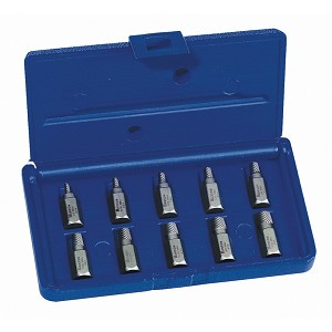 Irwin/Hanson 53226, 10 Piece Hex Head Multi-Spline Extractor Set