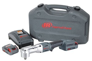 Ingersoll Rand W5350-K22, 1/2in Cordless Right Angle Impact Wrench 20V with (2) 20V Batteries