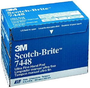 3M 07448, Gray Scotch Brite Ultra Fine Pad