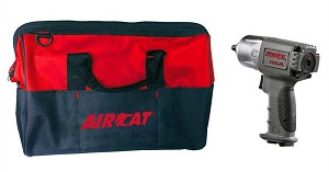 AIRCAT 1355-XL, 3/8in Drive NitroCat Air Impact Wrench with Bag