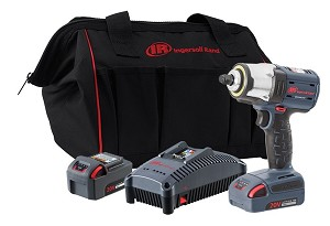 Ingersoll Rand W5133-K22, 3/8in IQV 20V Cordless Impact Wrench Two Battery Kit