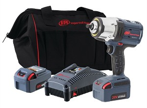 Ingersoll Rand W7152-K22, 1/2in IQV 20V High Torque Cordless Impact Wrench Kit with Two Batteries